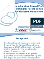 IPTp Policy in Zanzibar toward Pre-Elimination of Malaria