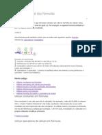 Descrição geral das fórmulas Excel