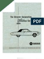 1963 Chrysler Turbine Car Engineers Book