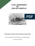 guide du château de Chantilly pour les enseignants
