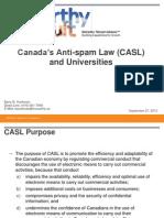 Sookman CASL and Universities