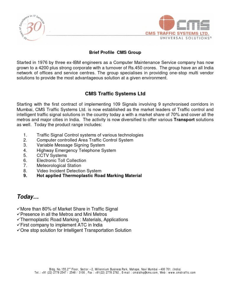CMS Traffic Thermoplastic | Glasses | Materials