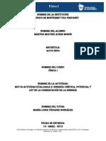 MIV - U2 - Actividad 2. Energías cinética, potencial y Ley de la conservación de la energía Alumno 2