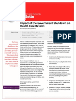 Impact of the Government Shutdown on Health Care Reform