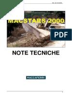 MacStars 2000 Nota Tecnica ITA