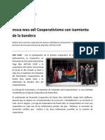 Inicia Mes Del Cooperativismo Con Izamiento de La Bandera