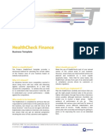 FTM Business Template - Health Check Finance
