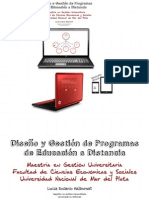 Disenio y Gestion de Programas de EaD