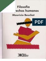 Beuchot, Mauricio. Filosofía y Derechos Humanos