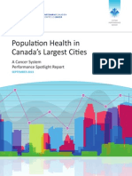 Population Health In Canada's Largest Cities