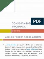 Jornada ETICA LEGALIDAD Consentimiento Informado Dr Cardenas