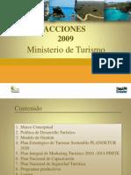 Acciones MINTUR 2009