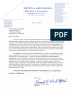 Chairman McKeon Letter to Sec. Hagel on Pay Our Military Act