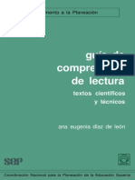 Guía de Comprensión de lectura, Textos Científicos y Técnicos