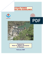 Hydro Power Policies and Guidelines