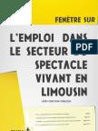 L'emploi dans le secteur du spectacle vivant en Limousin