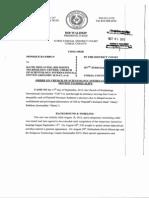 Monique Rathbun v. Scientology, Disqualify Motion Denied