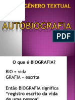 GÊNERO TEXTUAL autobiografia