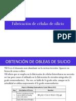 Fabricación de células de silicio