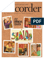Congregation Shaarey Zedek The Recorder October 2013