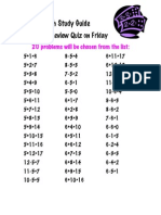 Math Study Guide Review 5 & 6