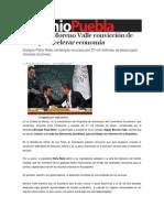 13-09-2013 Sexenio Puebla - Reconoce Moreno Valle convicción de Peña por acelerar economía