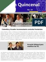 Boletín quincenal de la Embajada de Colombia en Ecuador