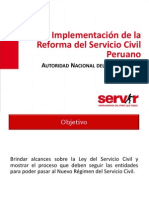 Implementacion Reforma Servicio Civil Julio2013