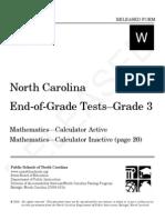 Grade 3 Math Released