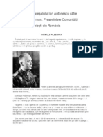 Scrisoarea Maresalului Ion Antonescu Catre