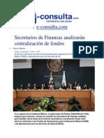 13-09-2013 e-consulta.com - Secretarios de Finanzas analizarán centralización de fondos
