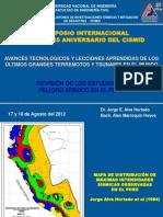 Actualización de Parámetros Peligro Sísmico 2012-01