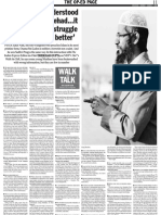 Dr. Zakir Naik in Indian Express 9th March