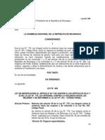Ley No. 846 Ley de Modificacion Ley No. 779