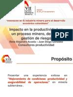 5.Impacto en la productividad en un proceso minero, desde la gestión de riesgo
