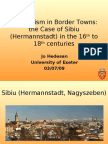 Esoteric Traditions in Transylvanian Town of Sibiu - ESSWE Strasbourg Conference