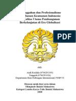 Ketangguhan Dan Profesionalisme Pertahanan-Keamanan Indonesia_ Modalitas Utama Pembangunan Berkelanjutan Di Era Globalisasi