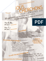 Kaicedra - Brochure Parrainage 2013-2014