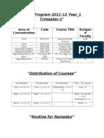 MBA Program 2011-12 Year_1 Trimester-1