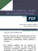 Politicas Publicas, Su Rol en La Empresa Peruana