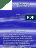 Analisis Mengenai Dampak Lingkungan materi kuliah semester 1