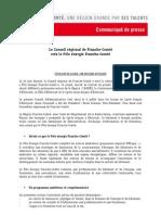 communiqué de presse création du Pôle énergie Franche-Comté