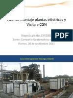 130920 Avance y Visita CGN - Proyecto 05 Plantas 2 MW