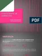 Varianza y Coeficiente de Variacion