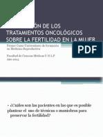 REPERCUSIÓN DE LOS TRATAMIENTOS ONCOLÓGICOS SOBRE LA FERTILIDAD