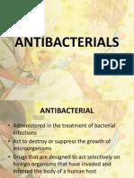pharmacology - antibacterial