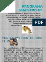 Programa Maestro de Producción MPS