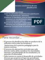 Elementos de una planificación INACAP psicopedagogía CLASE Nº 3