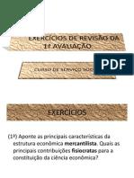EXERCÍCIOS DE REVISÃO-CURSO DE SERVIÇO SOCIAL