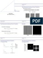 2-D Fourier Transform Properties